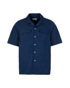 albam short sleeve shirt ALM511407219 002 navy