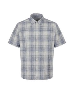 Albam Short Sleeve Shirt | ALM511403219 072 Blue / White