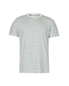 albam t-shirt ALM611420219 012 stripe white / green