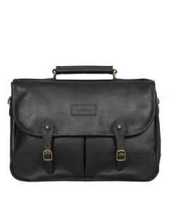 barbour briefcase black leather uba0011bk11