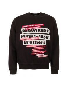 dsquared logo sweatshirt S74GU0311 S25305 900 black