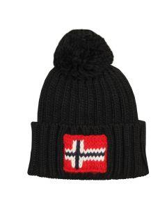Napapijri Semiury Bobble Hat NOYKCK 041 Black
