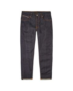 Nudie Jeans Lean Dean Dry 25 Dots 113359 Navy
