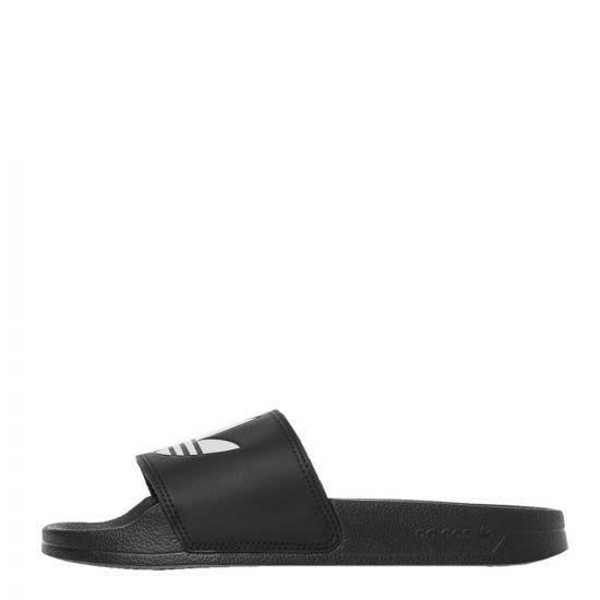 adidas Adilette Slides | FU8298 Black / White