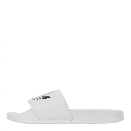 adidas Adilette Slides | FU8297 White / Black