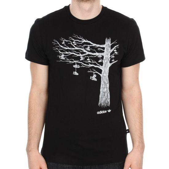 Adidas Tree Graphic T-Shirt in Black