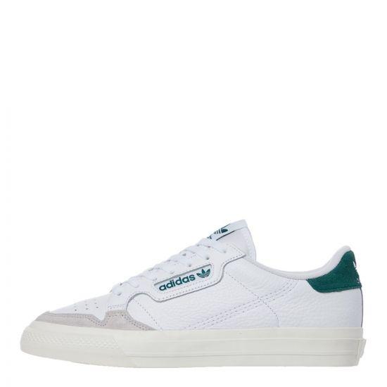 adidas Originals Continental Vulc Trainers | EF3534 White / Green