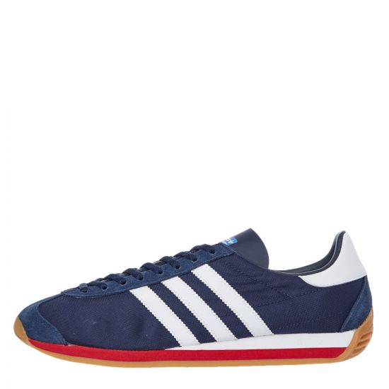 adidas Originals Country OG Trainers | EE5744 Navy / White / Scarlet