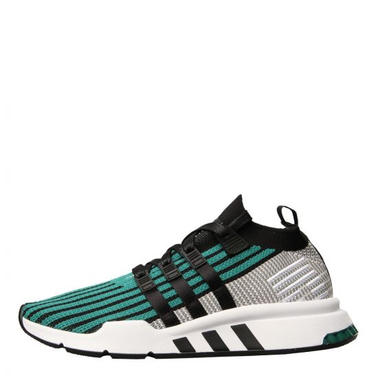 adidas Originals EQT Support  Mid ADV Sneakers CQ2998 in Black / Sub Green