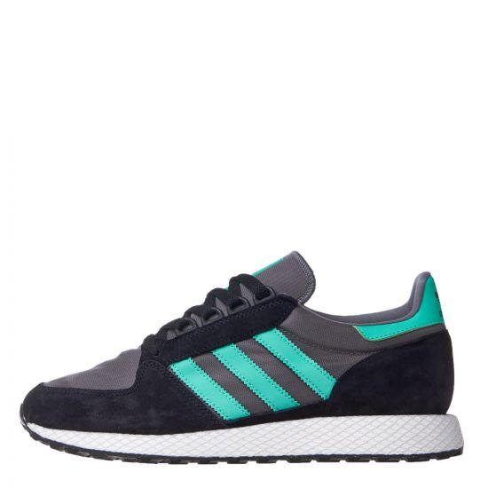 adidas Forest Grove B38001 In Black / Green / Grey