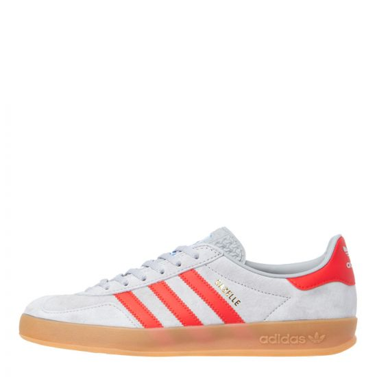 adidas Gazelle Indoor Trainers G27500 Grey/Red