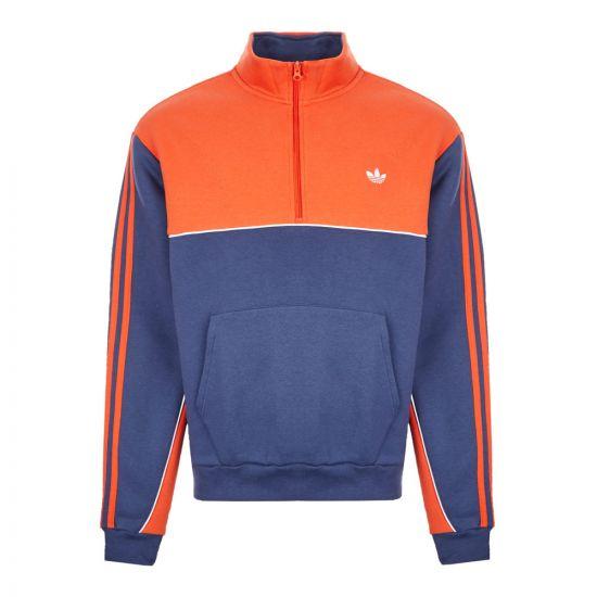 adidas Sweatshirt Mod Half-Zip - Navy / Orange 21360CP -1