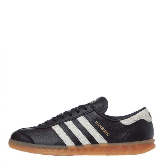 adidas Originals Hamburg Trainers | EF5674 Black / White