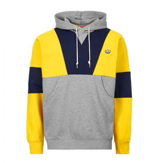 adidas Hoodie - Yellow / Grey / Navy 21068CP -1