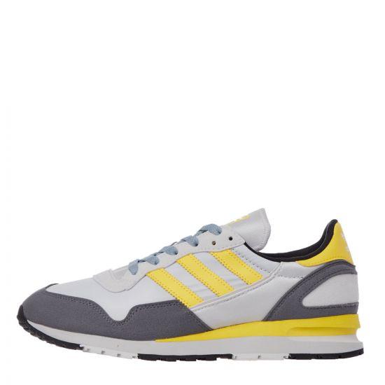 adidas Lowertree Trainers - Grey / Yellow  21977CP -1