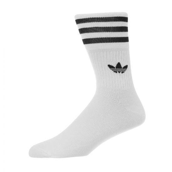 adidas 3 Pack Socks – White / Black 21246CP -1