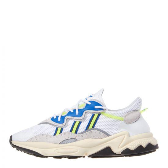 adidas Ozweego Trainers EE7009 White / Grey / Solar Yellow