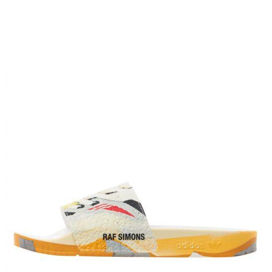 adidas x Raf Simons Adilette Slides Torsion | EE7958 White