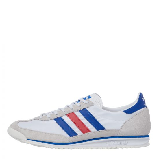 adidas sl72 trainers FV4430 white / red / blue