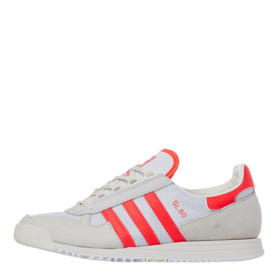 adidas sl80 trainers FV9790 white / red