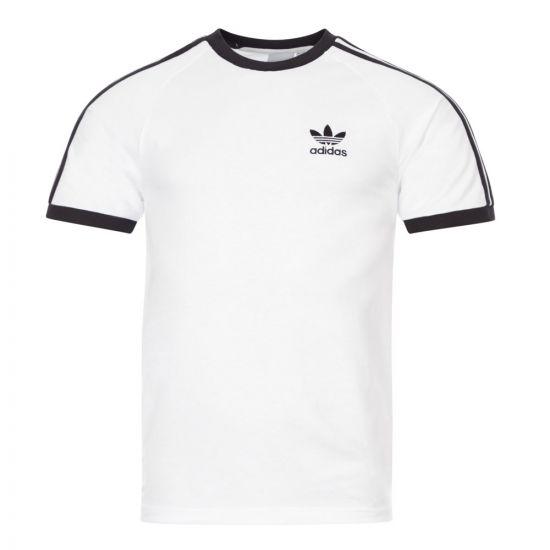 adidas Originals 3 Stripe T-Shirt | CW1203 White / Black