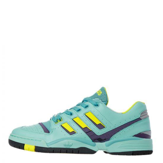 adidas Torsion Comp Trainers - Aqua / Yellow / Purple 21918CP -1
