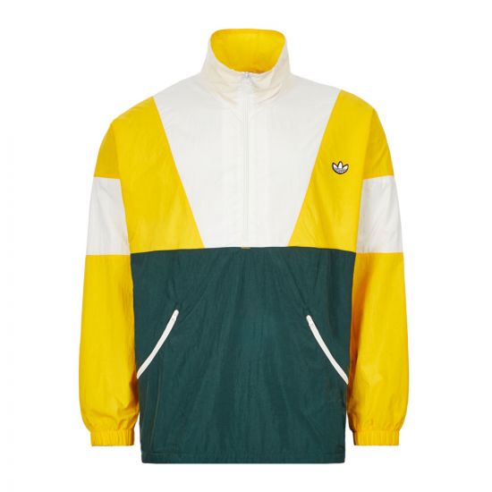 adidas Track Top - Yellow / White / Green 21433CP -1