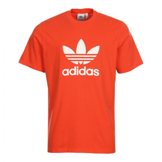 Adidas Trefoil Logo T-Shirt Dh5777 In Bright Red