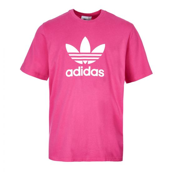 adidas Trefoil T-Shirt in Pink / White