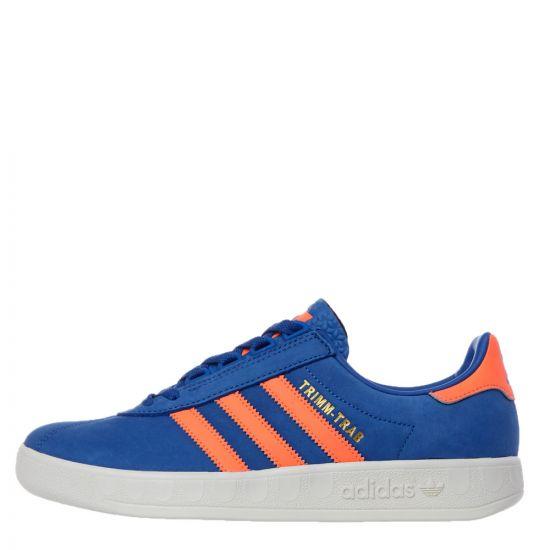 adidas Originals Trimm Trab Trainers | EE5743 Blue / Orange