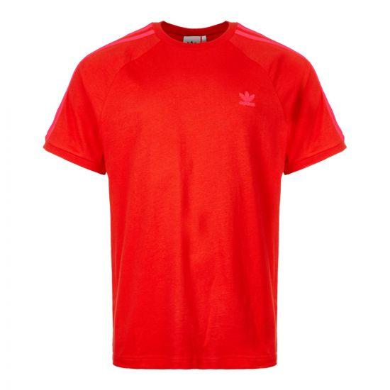 adidas 3 Stripes T-Shirt ED5953 Red