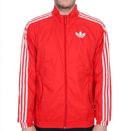 adidas Originals Windbreaker Jacket in Scarlet Red