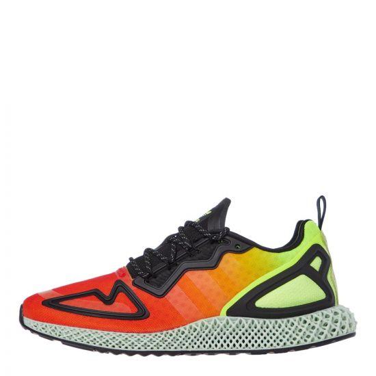 adidas ZX 2K 4D Trainers | FV9028 Orange / Yellow / Black