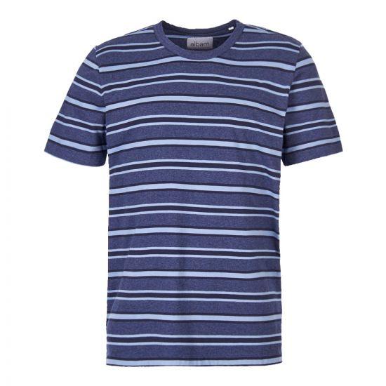 Albam T-Shirt Bernard ALM61131319 002 Blue Stripe