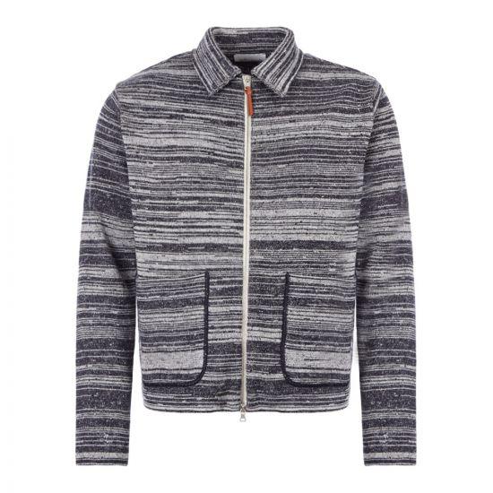 Albam Zipped Cardigan | ALM451491219 002 Navy / Oatmeal