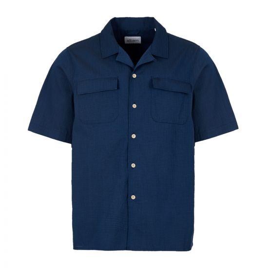albam short sleeve shirt ALM511407219 002 navy