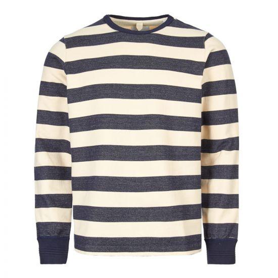 albam sweatshirt ribless ALM611308119 002 navy / ecru stripe