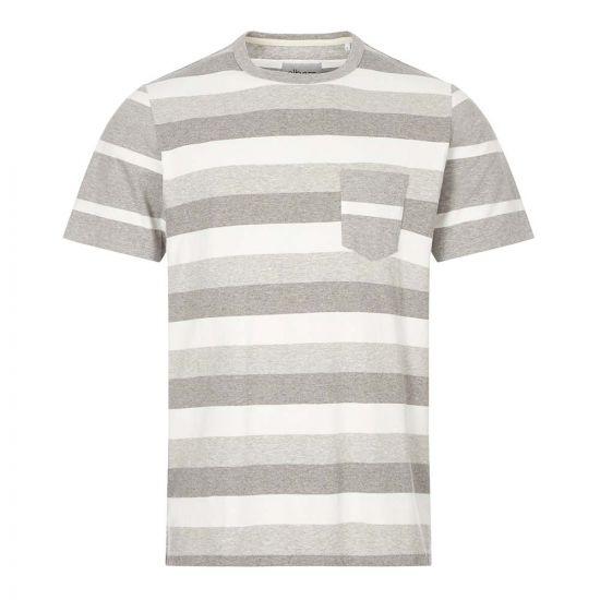 Albam T-Shirt Stripe | ALM611690220 107 Grey / Ecru