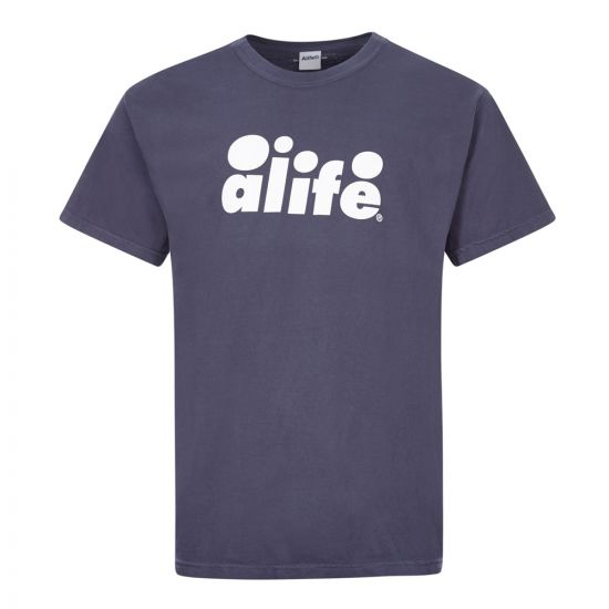 alife t-shirt bubble logo ALISS20 71 navy