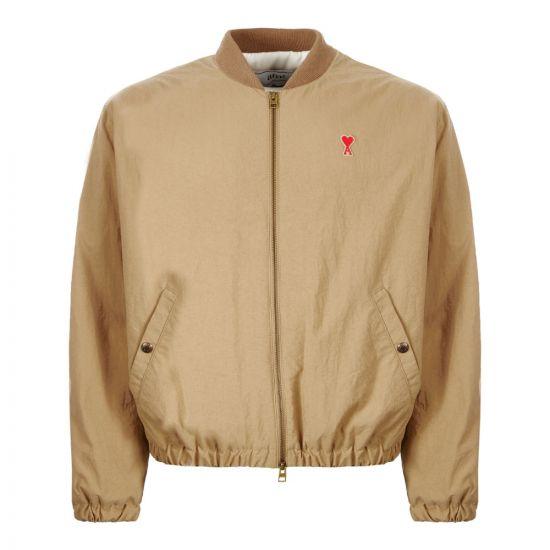 AMI Bomber Jacket | H19OW023|262|250 Beige | Aphrodite Clothing