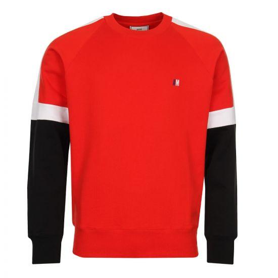 Ami Sweatshirt E18J015730600 Red Tricolour