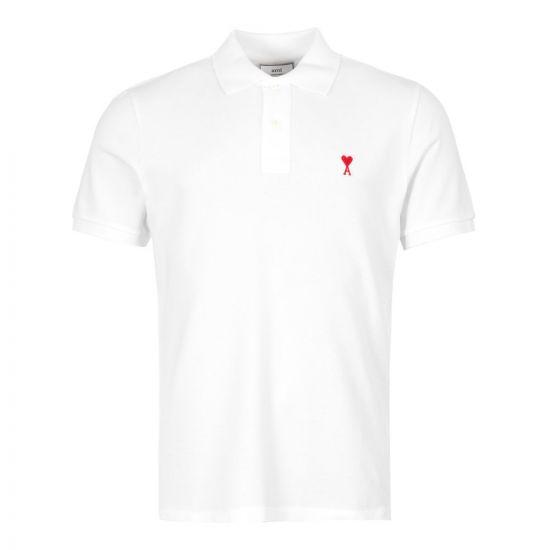 Ami Polo Shirt  A19J207 760 100 In White