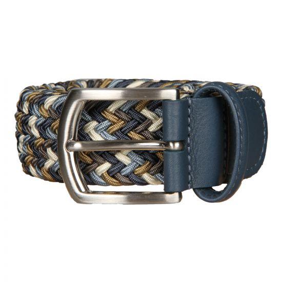 Anderson's Belts Woven Belt BO667-AF2620-NE41-121 In Blue / Brown