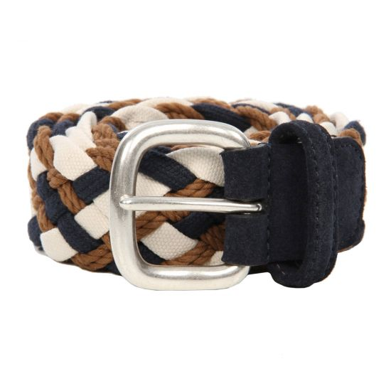 Andersons Brown Woven Belt