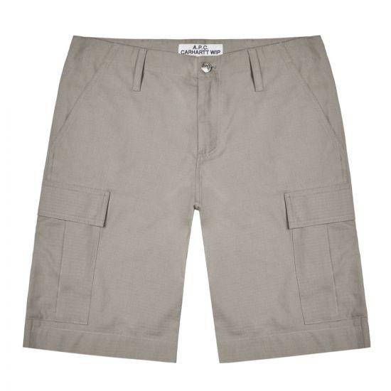 APC Carhartt WIP Cargo Shorts – Light Grey 21596CP -2
