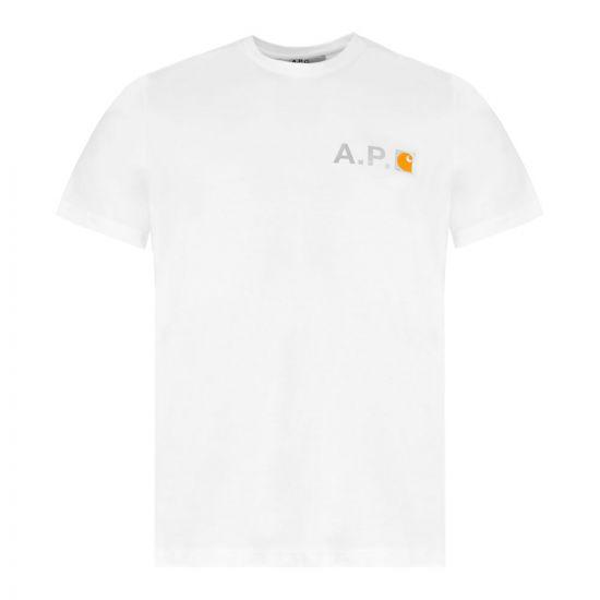 APC Carhartt WIP T-Shirt Logo – White 21589CP -1
