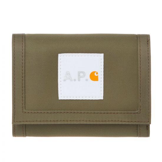 APC Carhartt WIP Wallet - Khaki 21587CP 0