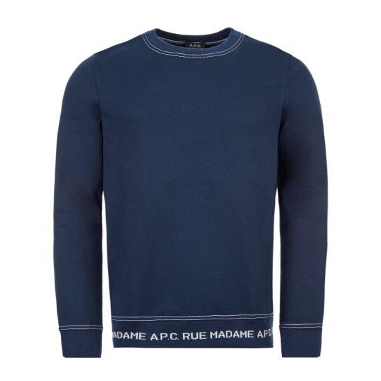 APC Sweatshirt - Dark Navy  21604CP -1