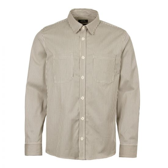 APC Overshirt David COCWI H02550 LAA Grey Stripe