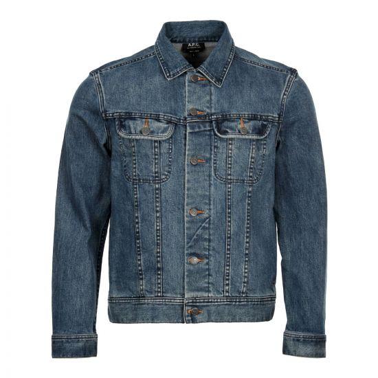 APC Denim Jacket COZZK H02223 Washed Indigo